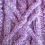 Knitted Cable Pattern Panel