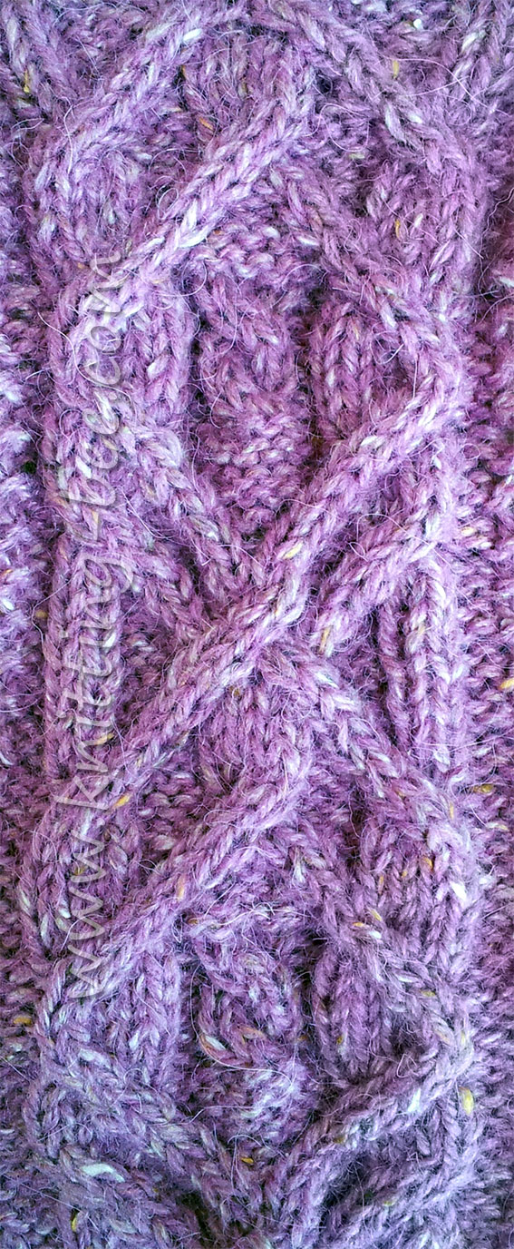 Knitted Cable Pattern Panel - Knitting Kingdom