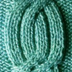 Knitted Ribbed Cable Panel