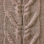 Twin Cable Panel Pattern