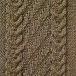 Cable and Diagonal Stitch Knitting Panel