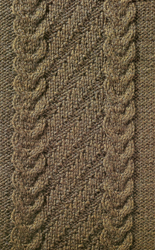 cable and diagonal knitting pattern