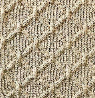 Cable Lattice Diamond Shape Stitch Knitting Kingdom