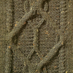 Cable Chart Panel Knitting Pattern
