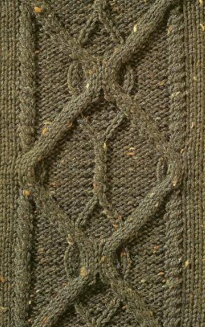 cable pattern daimon shape panel