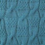Cables and Moss Stitch Knitting Pattern
