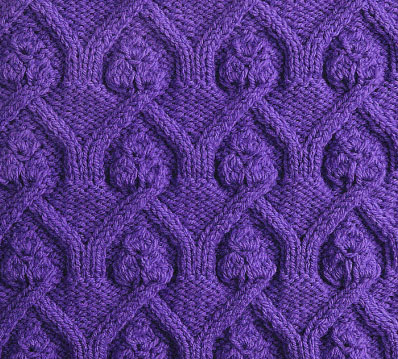 Cathedral Cables Knitting Stitch Pattern Knitting Kingdom