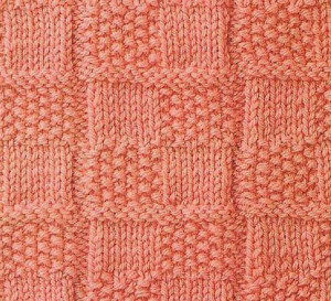 Checkered Moss and Stockinette