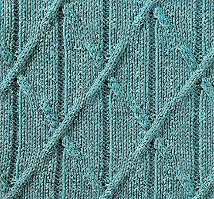 Triangle Diagonal Cabled Knit Stitch Knitting Kingdom