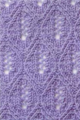 lace knitting stitch pattern 1