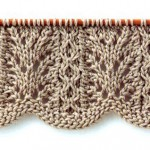 Lace Knitting Stitch with Wavy Edge