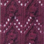 Lace and Bobbles Knitting Stitch