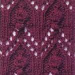 Lace and Bobbles Knitting Stitch