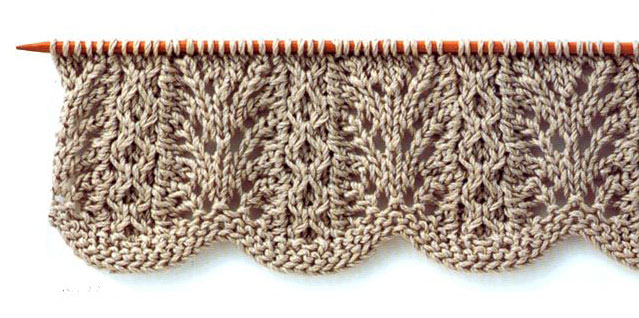 Lace Knitting Stitch With Wavy Edge Knitting Kingdom