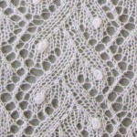 Lace Knitting Stitch with Bobbles