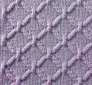 Cable Lattice Knit Stitch - Knitting Kingdom