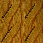 Mock Cable Pattern Knitting