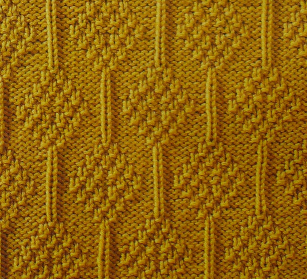 Knitting Stitches Texture : Diamonds with Moss Texture - Knitting Kingdom