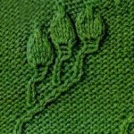Three Embossed Leaves Knitting Stitch