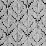 White Diamonds Knitting Stitch