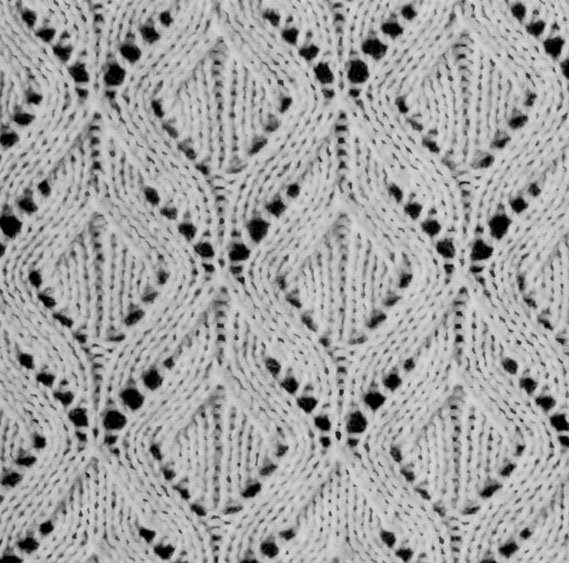 White Diamonds Knitting Stitch
