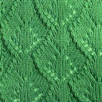 Wide Leaf Knitting Stitch