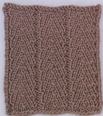 Herringbone Columns Knitting Stitch