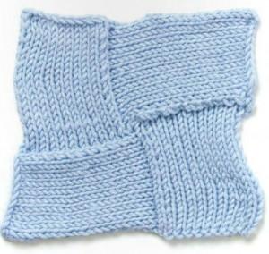 Four Star Entrelac Knitting Stitch