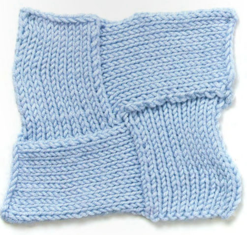Knitting Stitch Patterns Entrelac : Four Star Entrelac Knitting Stitch - Knitting Kingdom