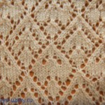Argyle Triangle Lace Free Knitting Stitch