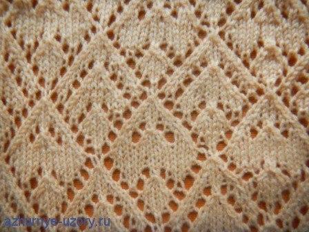 Triangle Lace Free Knitting Stitch a