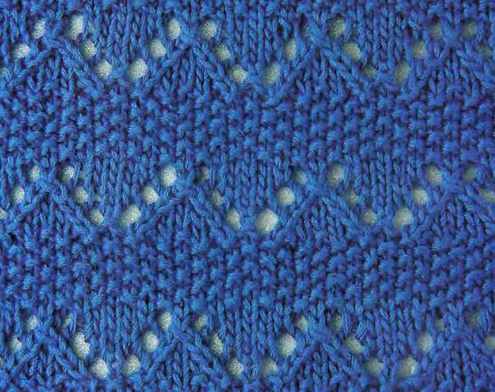 Knitting Stitches Moss Stitch : Zig Zag and Moss Knitting Stitch - Knitting Kingdom