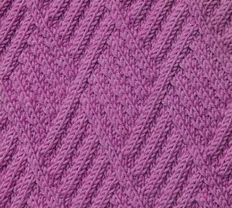 Diamond Cables Texture Knitting Stitch Knitting Kingdom