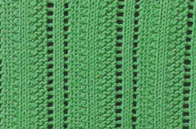 Eyelet Columns Knitting Stitch