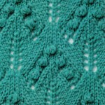 Lace and Bobble Arrow Knitting Stitch