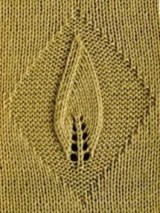 Single Leaf in a Diamond Lace Panel