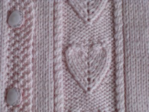 Embossed Heart Knitting Stitch