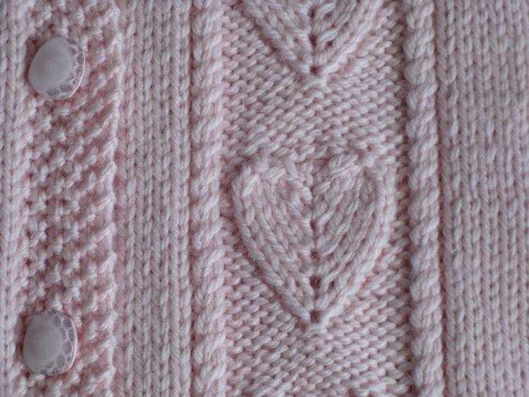 Embossed Heart Knitting Stitch Knitting Kingdom