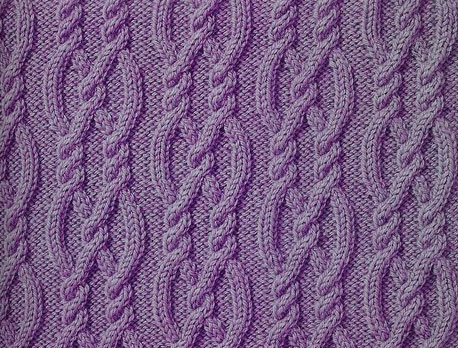 Knitting Cables Loose Stitches : Nautical Ropes Aran Cable Knitting Stitch - Knitting Kingdom