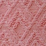 Twist Triangle Texture Knitting Stitch
