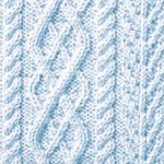 Argyle Cable Knitting Stitch Panel