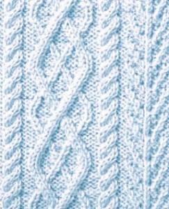 Argyle Cable Knitting Stitch Panel