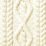 Cables in and Around a Diamond Knit Panel
