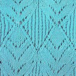 Diamond Leaves Lace Knitting Pattern
