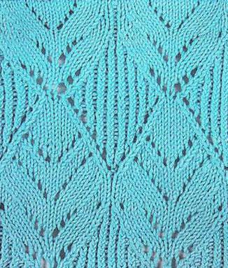 Diamond Leaves Lace Knitting Pattern - Knitting Kingdom