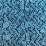 Lace Zig Zag Ribbed Knitting Stitch