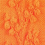 Bobble Vines Free Knitting Stitch Chart