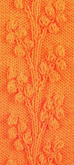 bobble vines free knitting stitch chart