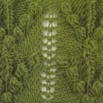 Bobbled v free knitting stitch