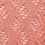 Diamond Lace Vine Knitting Stitch